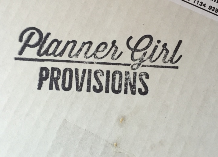 Planner Girl Provisions Box May 2016 box