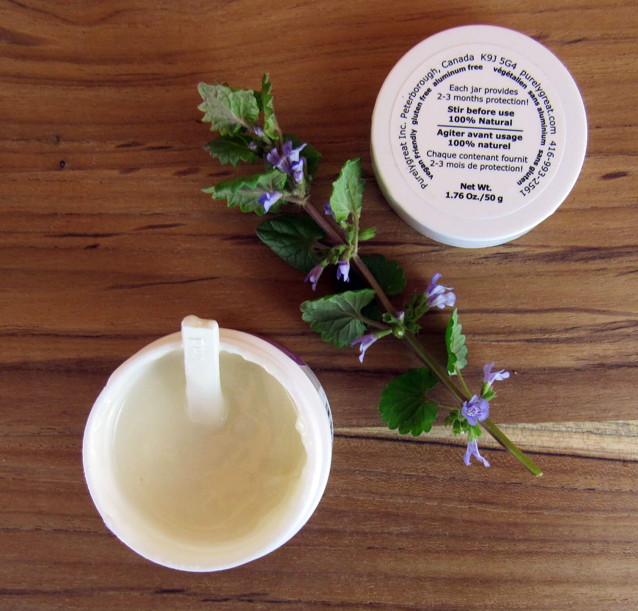 PurelyGreat cream Deodorant in Lavender