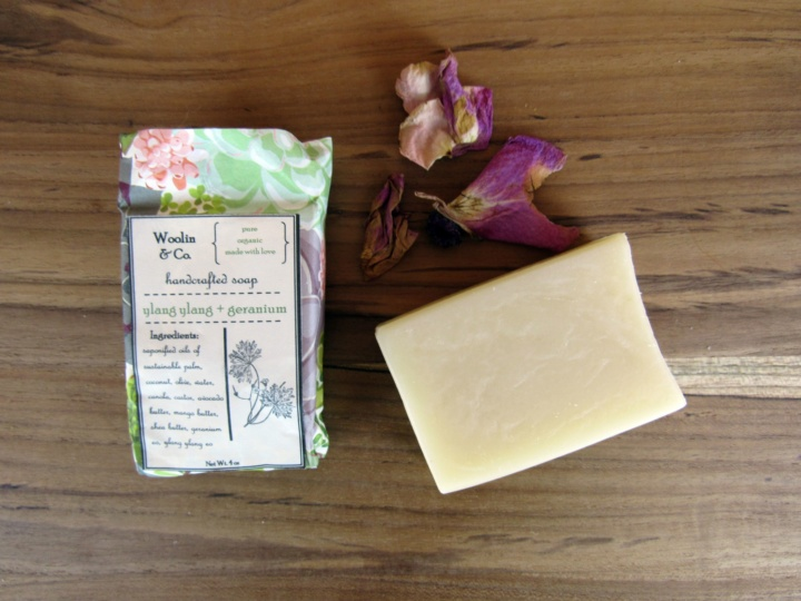 Woolin & Co Ylang Ylang + Geranium Handcrafted Soap