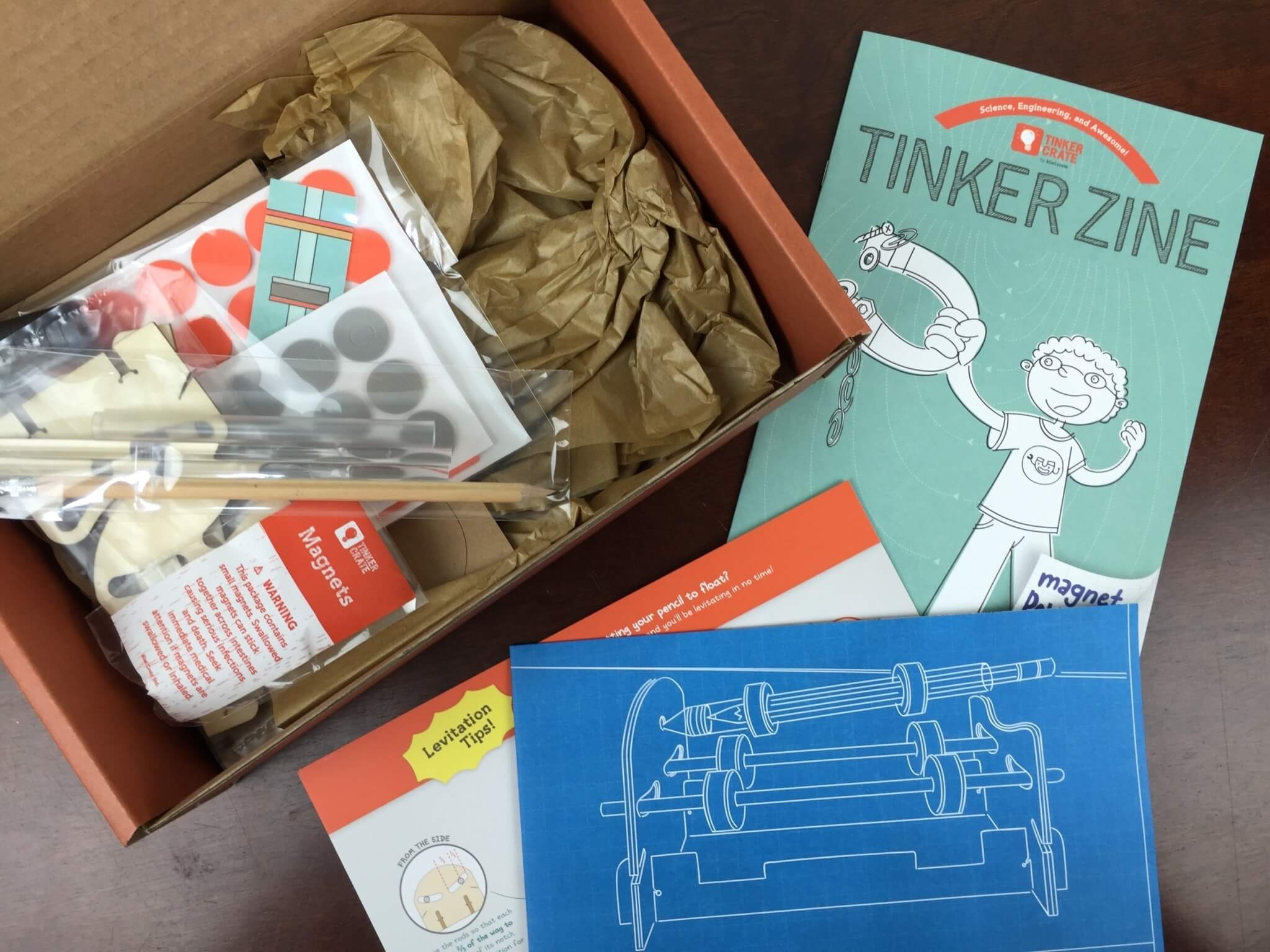 Tinker Crate May 2016 Review & Coupon – Magnetic Levitation