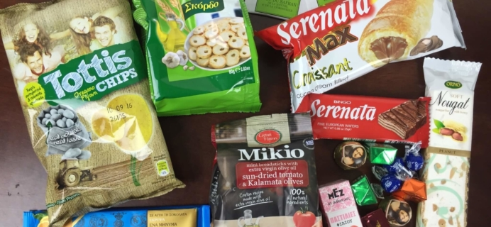 Universal Yums May 2016 Subscription Box Review – Greece