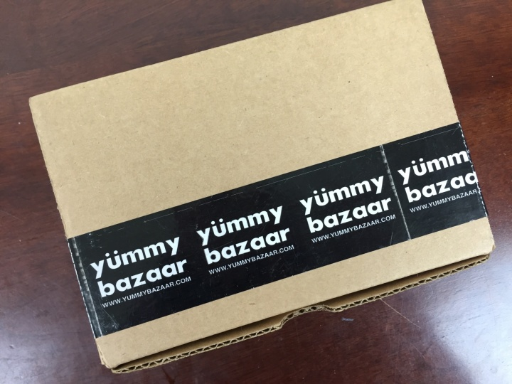 Yummy Bazaar Mini Sampler Box April 2016 box