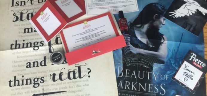 GiftLit Subscription Box Review – May 2016 Fierce Reads Collection