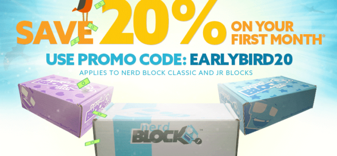 20% Off First Nerd Block or Nerd Block Jr Coupon + Spoilers!