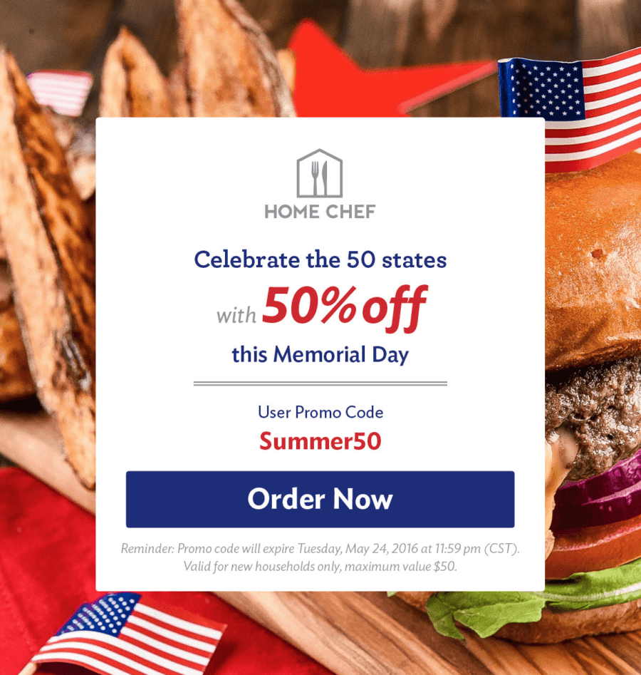 Home Chef 50% Off Coupon – One Week Only!
