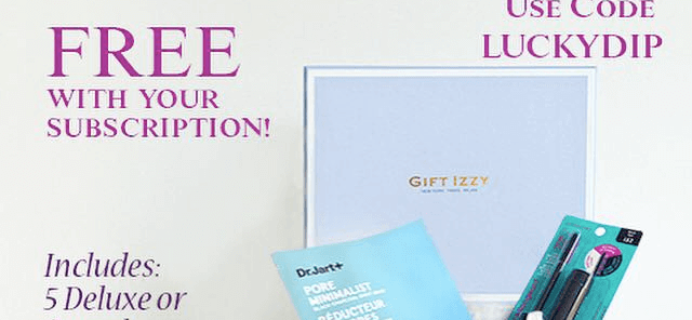Gift Izzy Deal: Free Lucky Dip Beauty Box with Subscription!