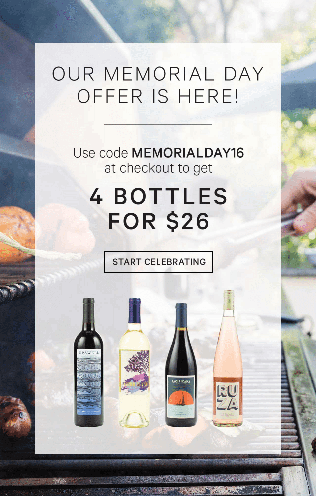 Club W Memorial Day Deal – Save $26 on 4 bottles!