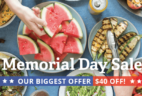 Sun Basket Memorial Day Sale – Save $40 On Your First Box!