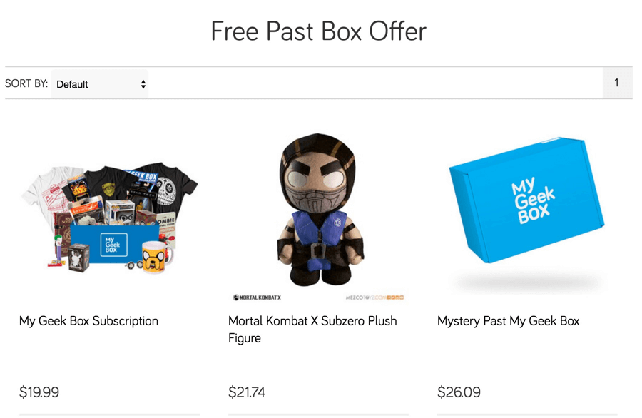 My Geek Box Deal: Free Mortal Kombat Plushie + Mystery Box with Subscription!