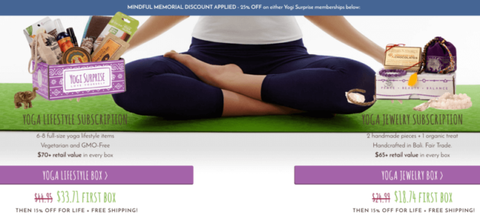 Yogi Surprise Memorial Day Coupon – 25% Off Today Only!