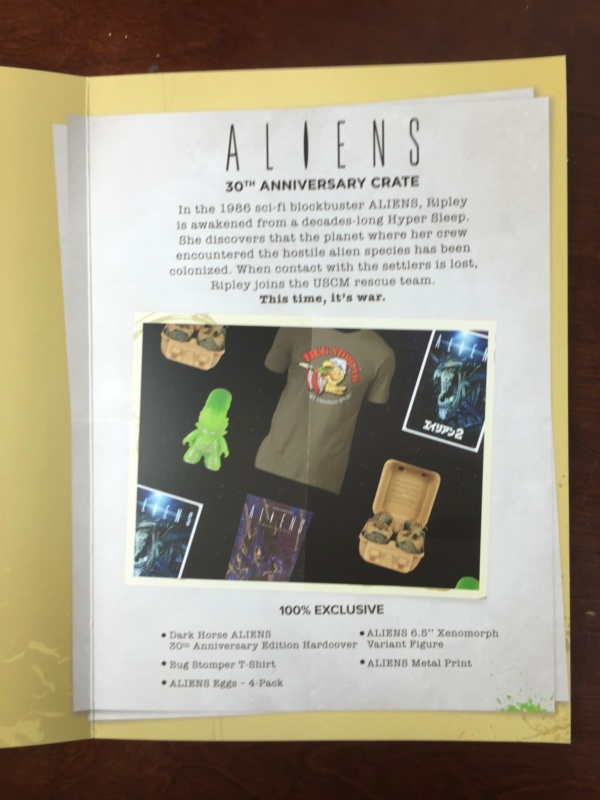 loot crate aliens limited edition box folder