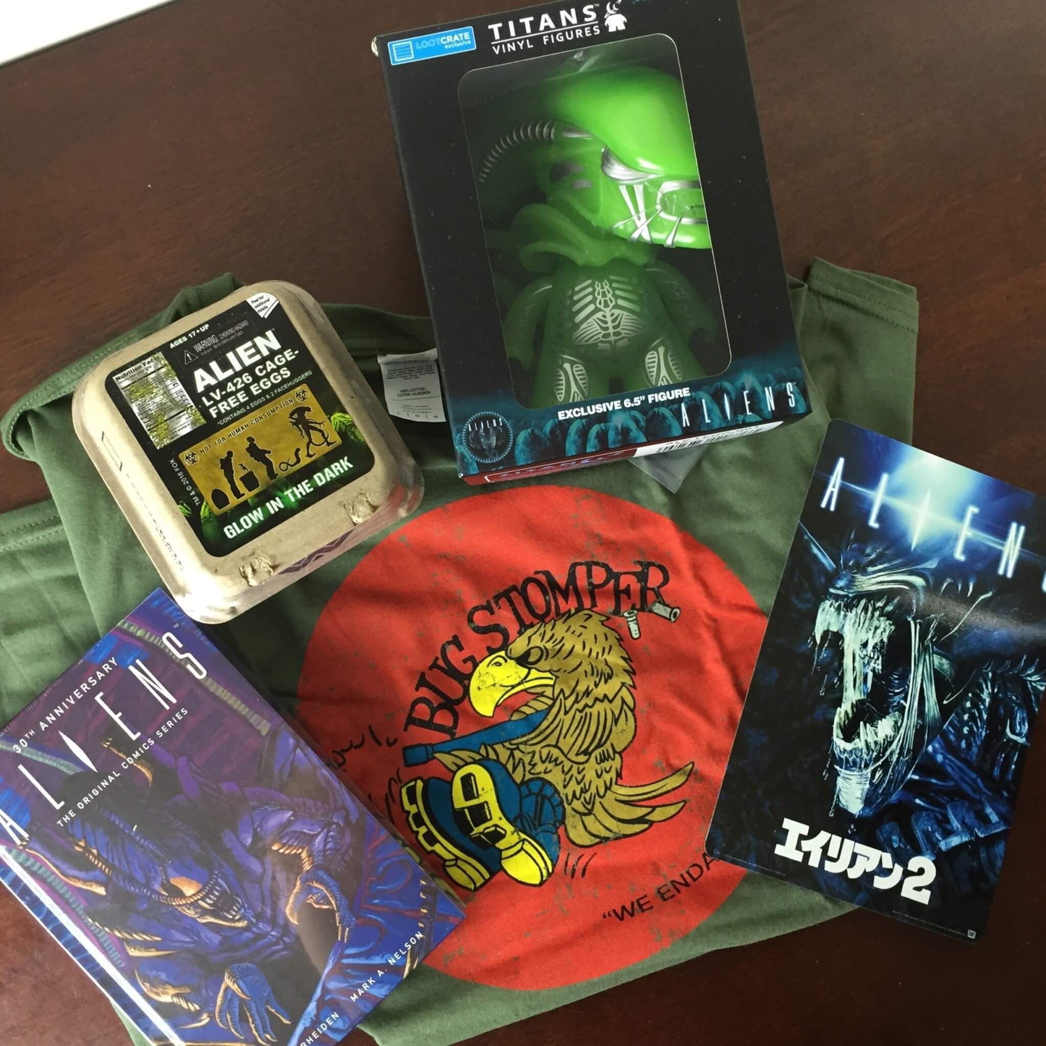 loot crate aliens limited edition box unboxed