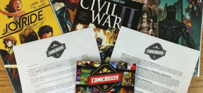 ComicBoxer April 2016 Subscription Box Review & Coupon
