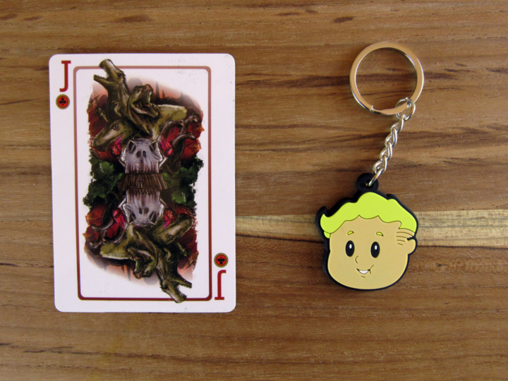 Jurassic Sticker Card and Vault Keychain