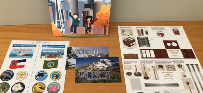 Little Passports USA Subscription Box Review + Coupon – Washington & Mississipi