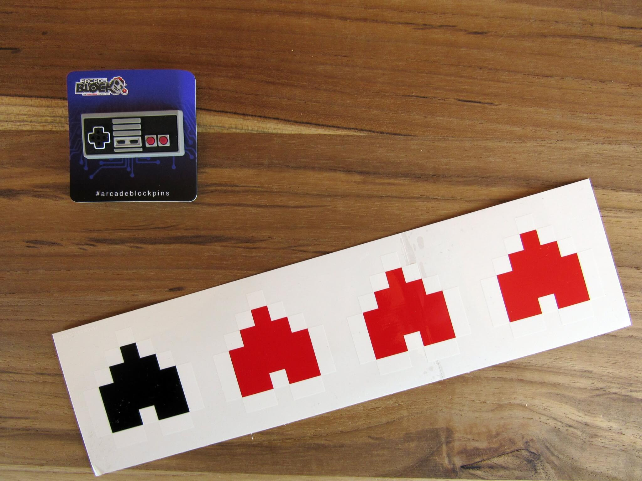 NES Controller Pin and Zelda Life Heart Bumper Stickers