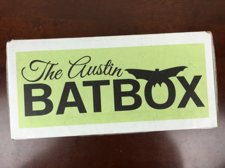Austin BatBox June 2016 box