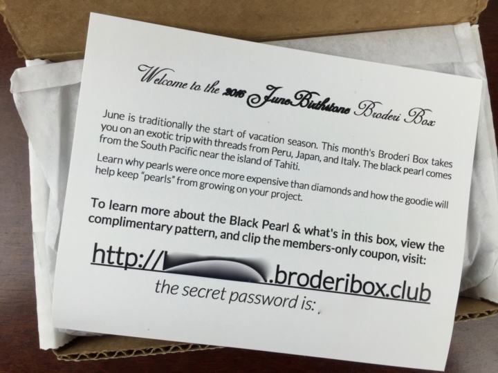 Broderi Box June 2016 unboxing