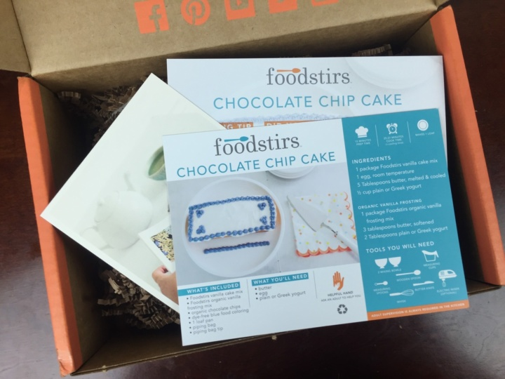 Foodstirs Box May 2016 unboxing