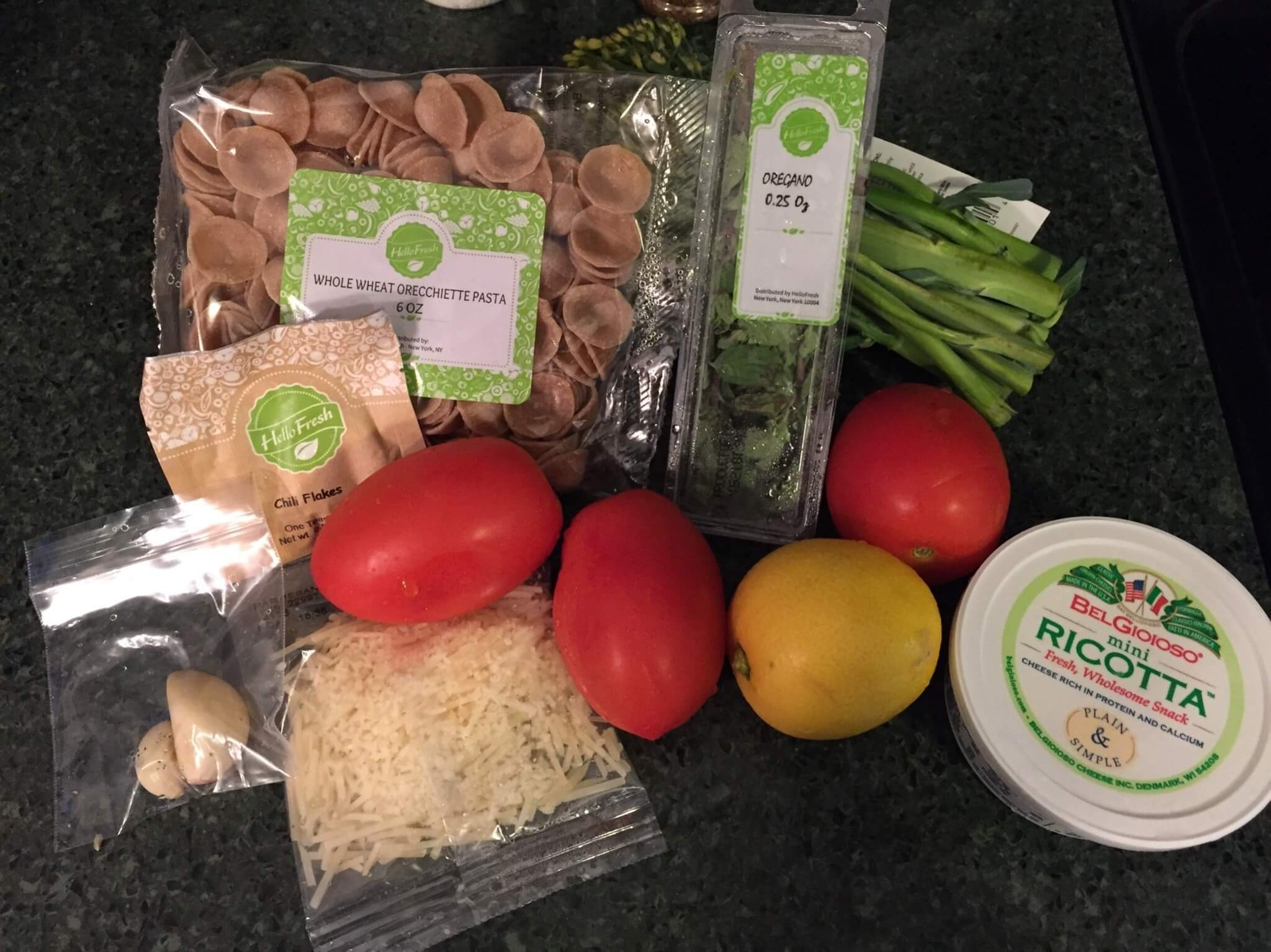 Hello Fresh Veggie Box June 2016 (1)