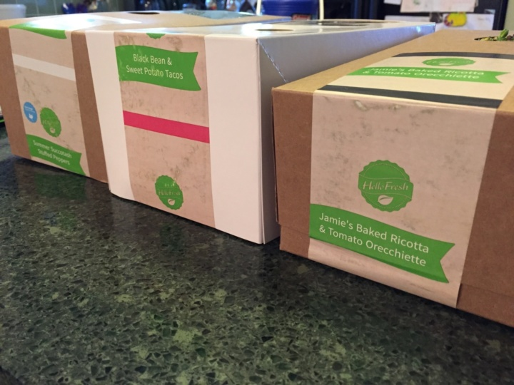 Hello Fresh Veggie Box June 2016 box