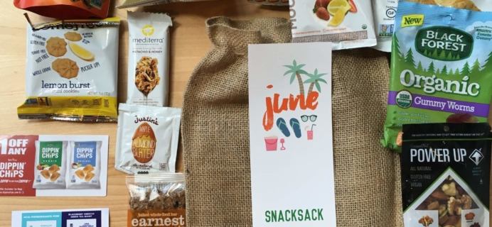 Snack Sack June 2016 Subscription Box Review & Coupon