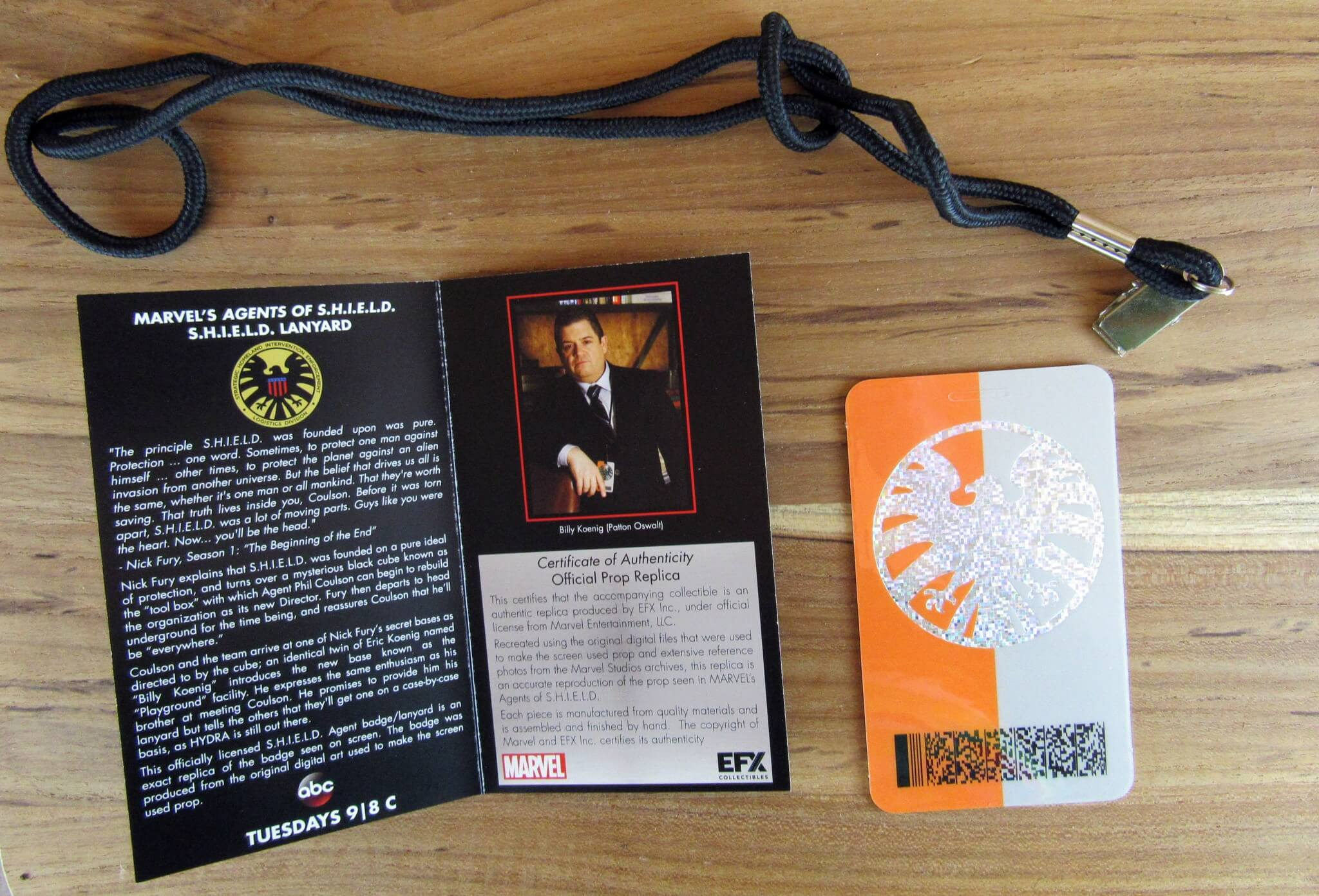 Replica Agent of Shield Lanyard