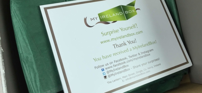 My Ireland Box June 2016 Subscription Box Review