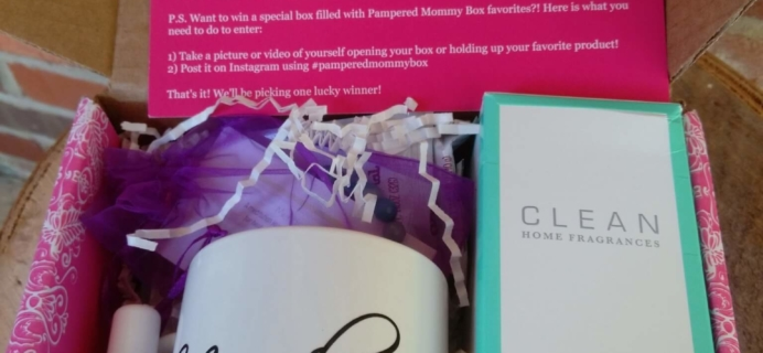 Pampered Mommy May 2016 Subscription Box Review & Coupon