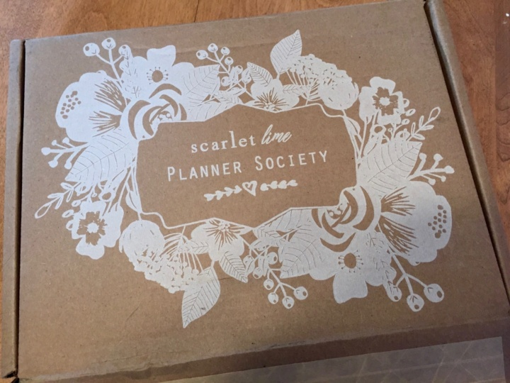 Scarlet Lime Planner Society Kit Club June 2016 box