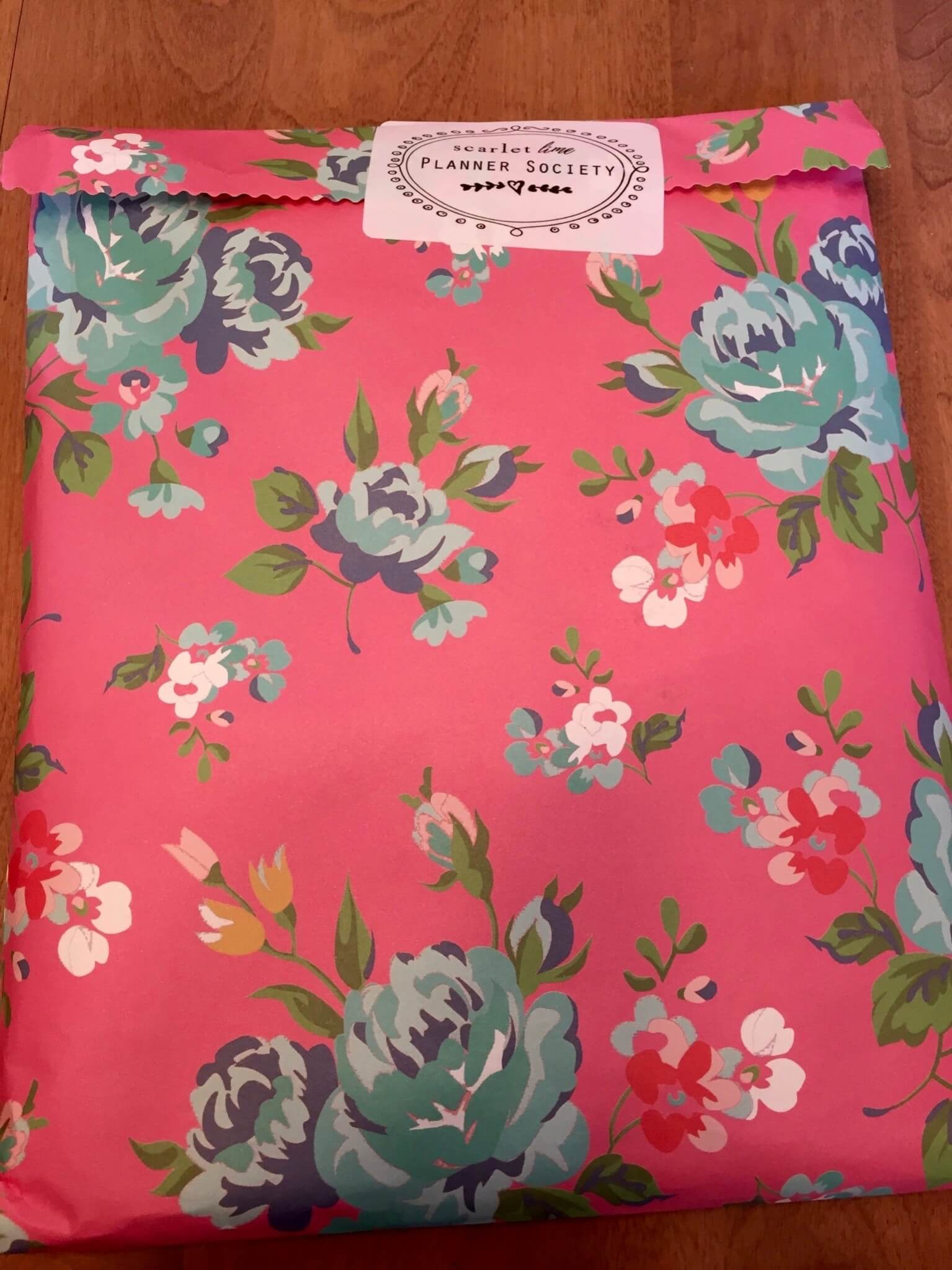Scarlet Lime Planner Society Kit Club June 2016 unboxed