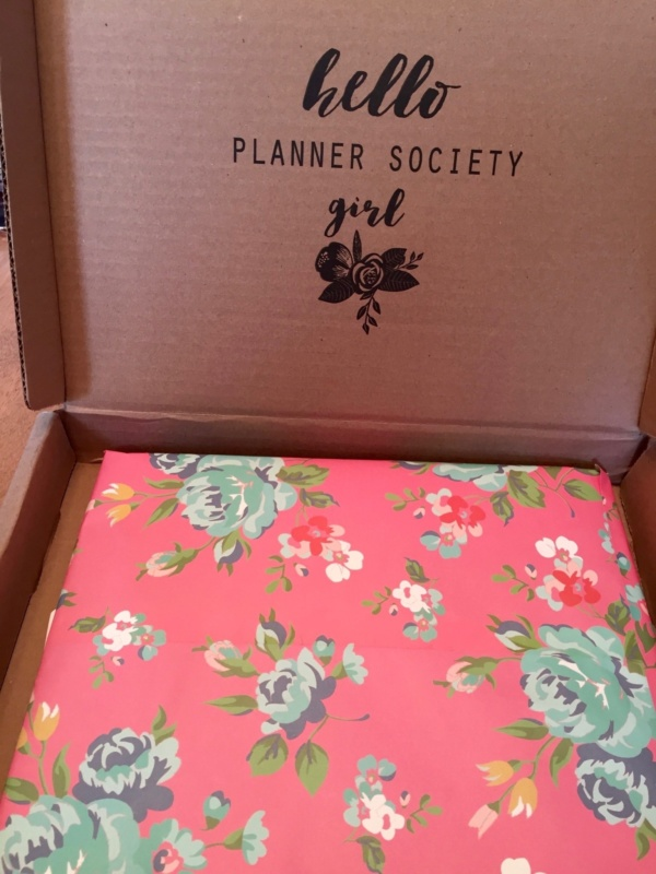 Scarlet Lime Planner Society Kit Club June 2016 unboxing
