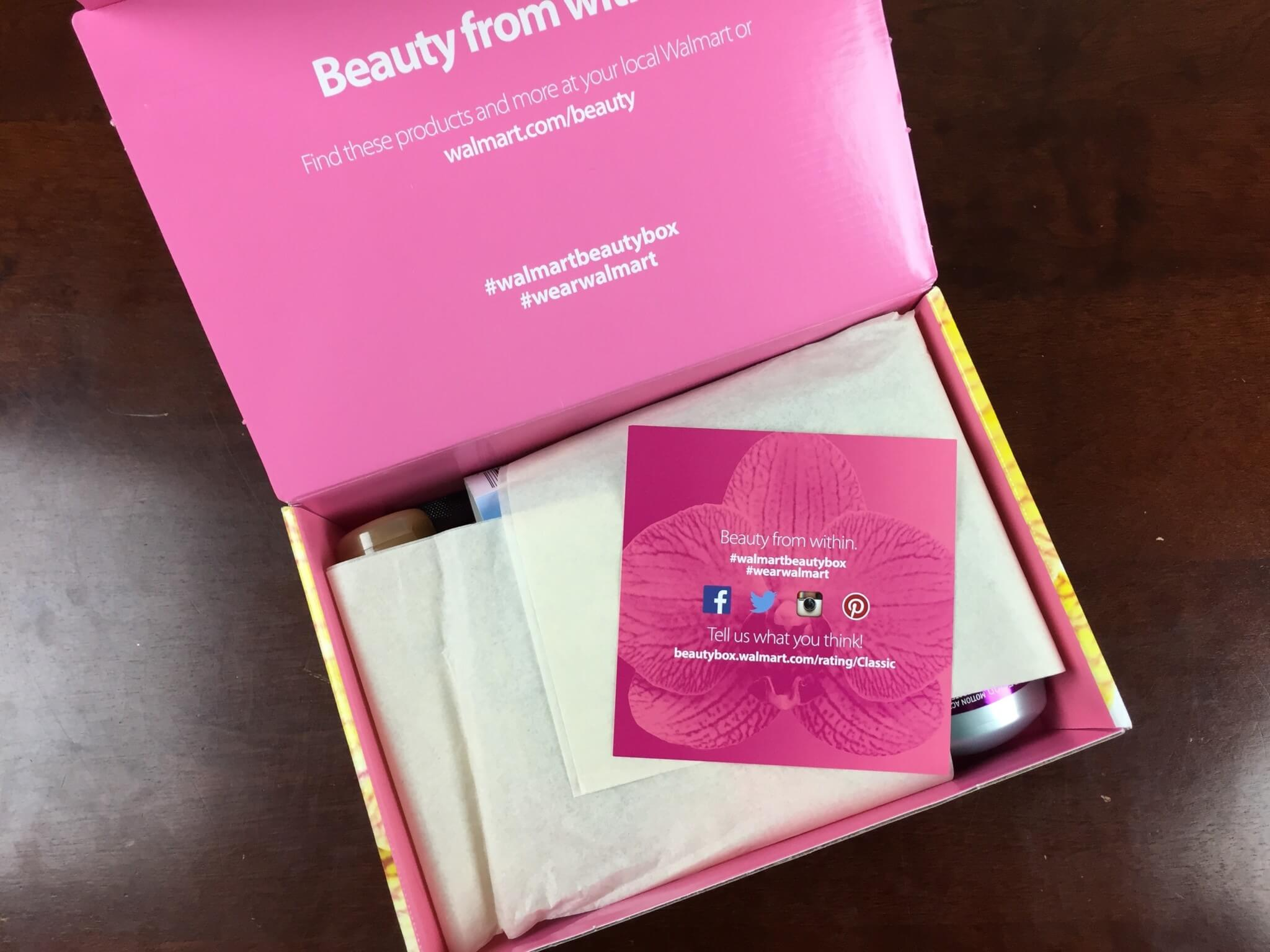 Walmart Beauty Box Summer 2016 unboxing