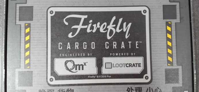 Firefly Cargo Crate May-June 2016 Review + Coupon