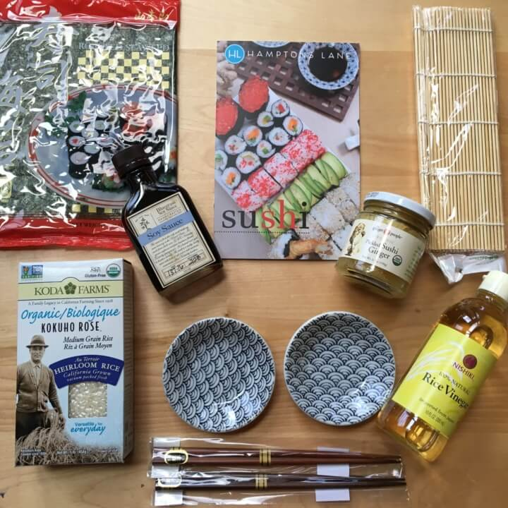 Hamptons Lane Subscription Box Review & Coupon – June 2016 Sushi Box