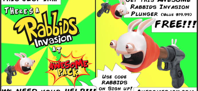 Awesome Pack Deal: Free Rabbids Invasion Plunger with Subscription!