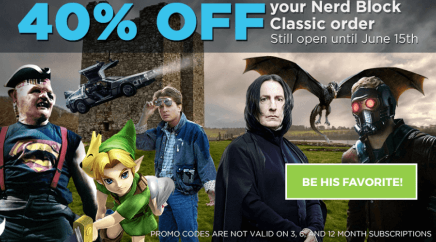 LAST DAY 40% Off First Nerd Block Coupon