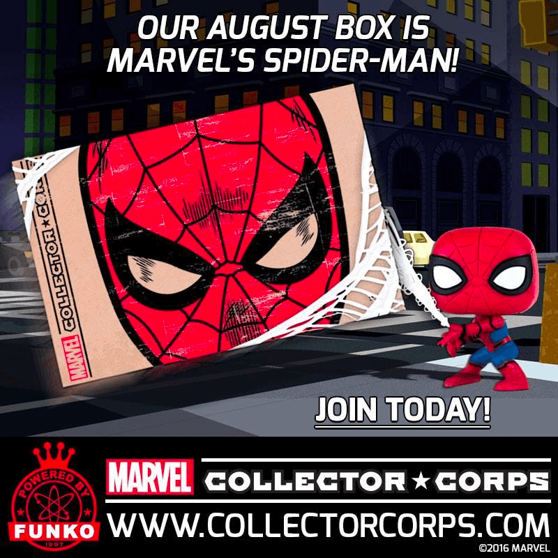 Marvel Collector Corps August 2016 Full Spoilers!