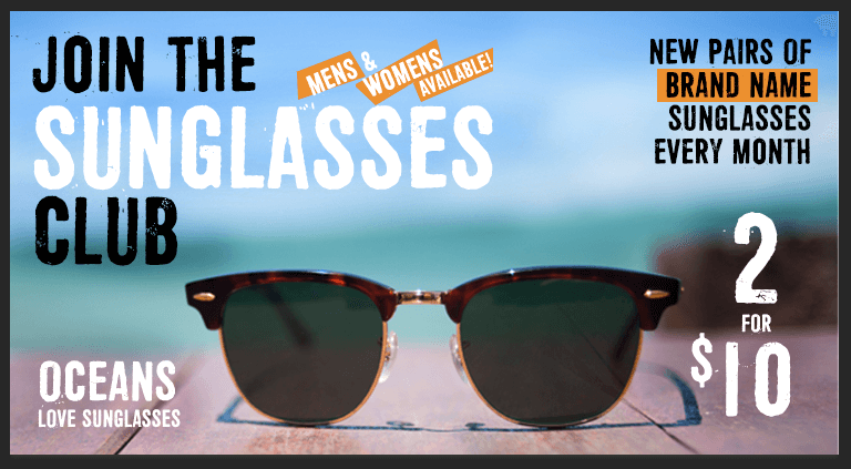 New Sunglasses Subscription: Monthly Sunglasses Club