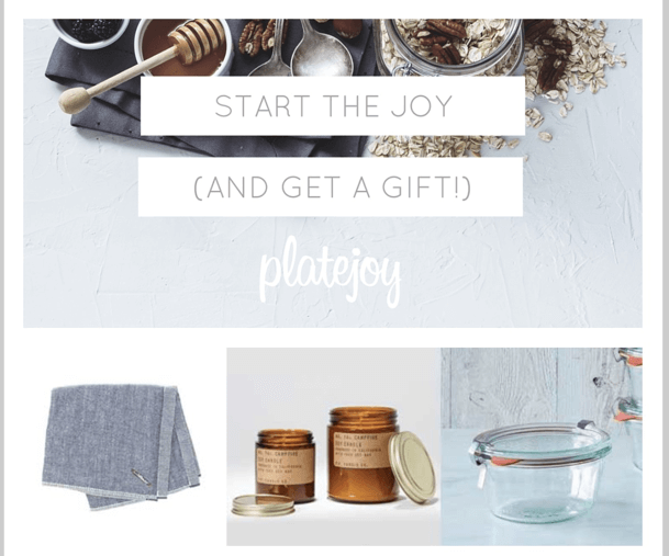 Platejoy Cyber Monday Deal: Free Gift with Menu Planning Subscription Gift!