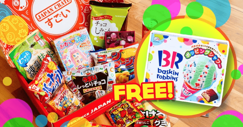 Japan Crate Coupon – Free Baskin-Robbins Candy With July Box!