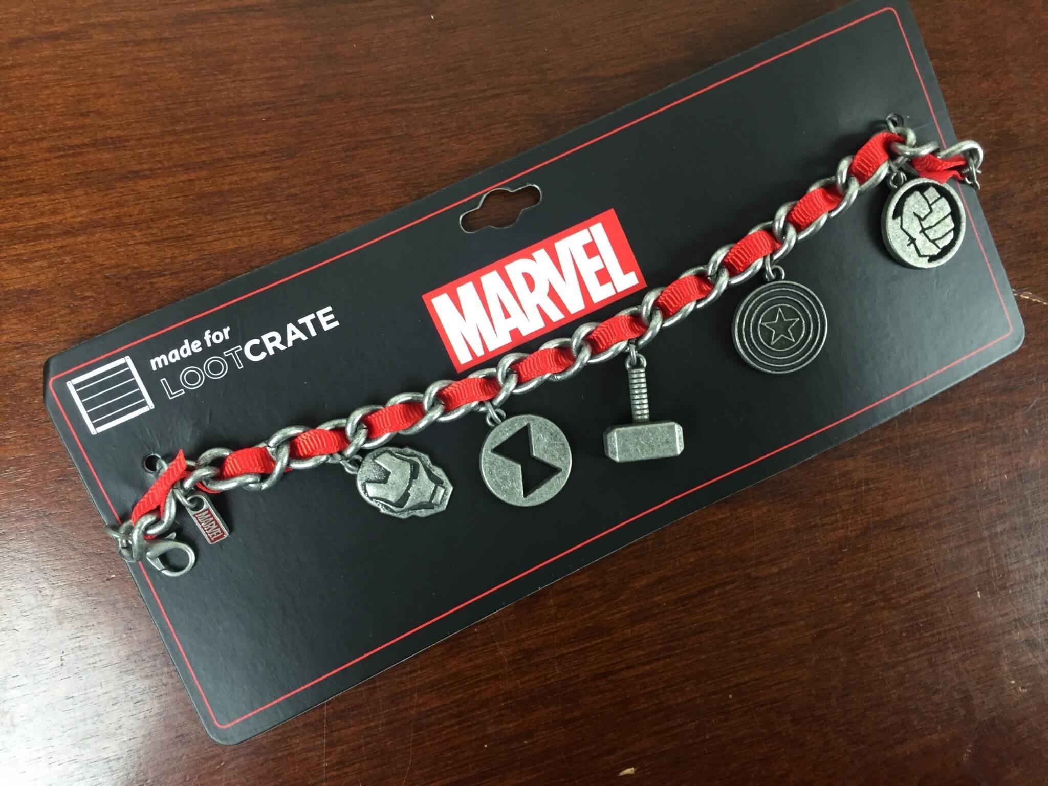 level up loot crate may 2016 marvel bracelet