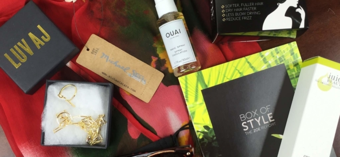 Rachel Zoe Box of Style Summer 2016 Subscription Box Review + Coupon