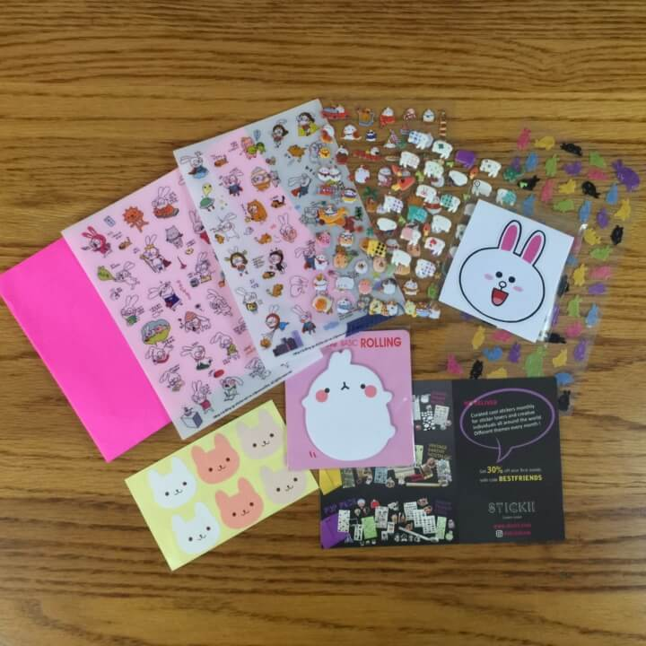 Stickii Club August 2016 Subscription Box Review – Cute Pack!