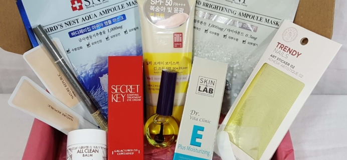 Pink Seoul Subscription Box Review + Coupon – May-June 2016