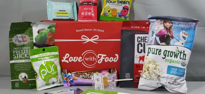 July 2016 Love With Food Subscription Box Review + Coupons