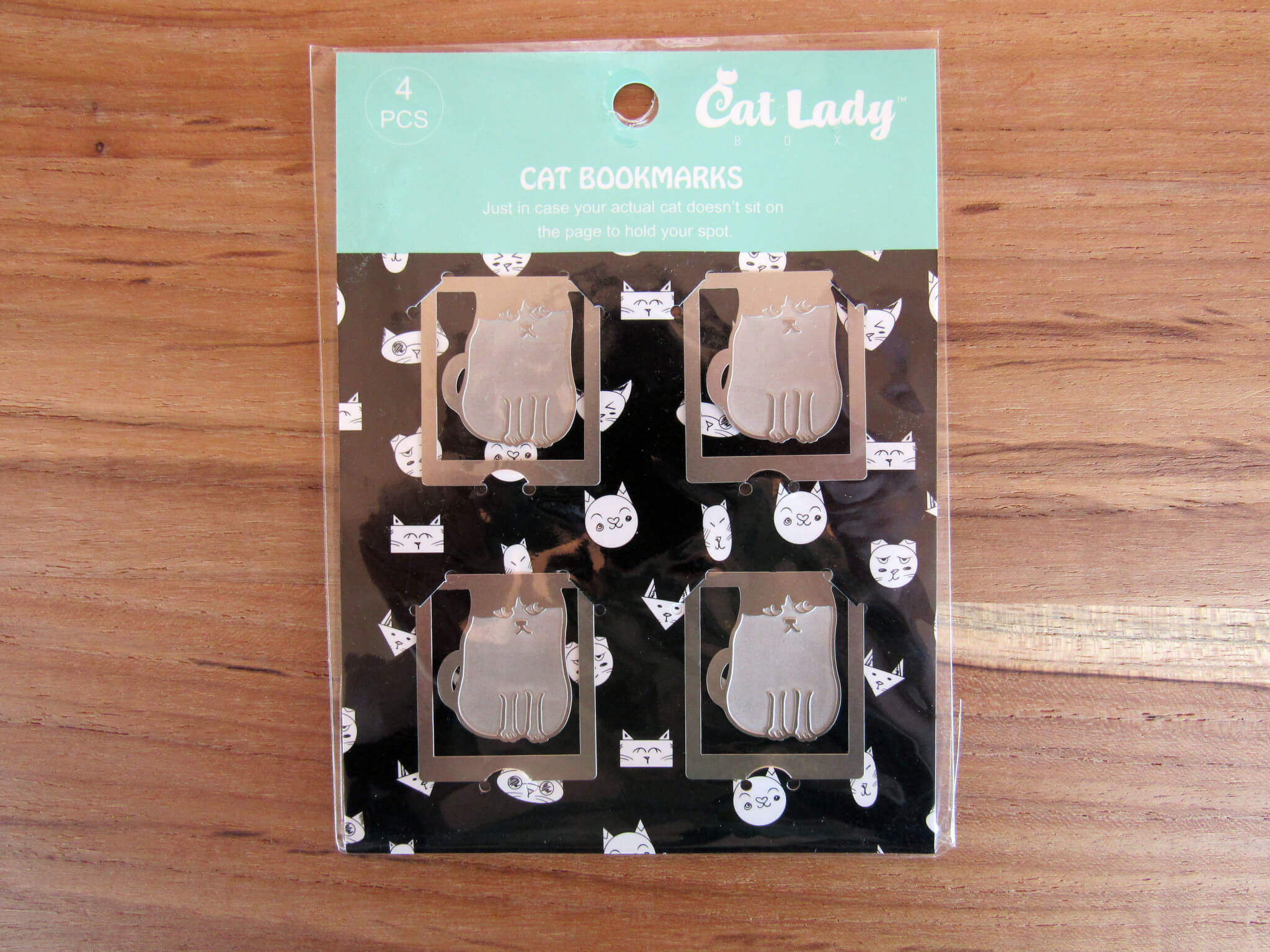 Silver Cat Clip Bookmark Set Limited Edition for CatLadyBox