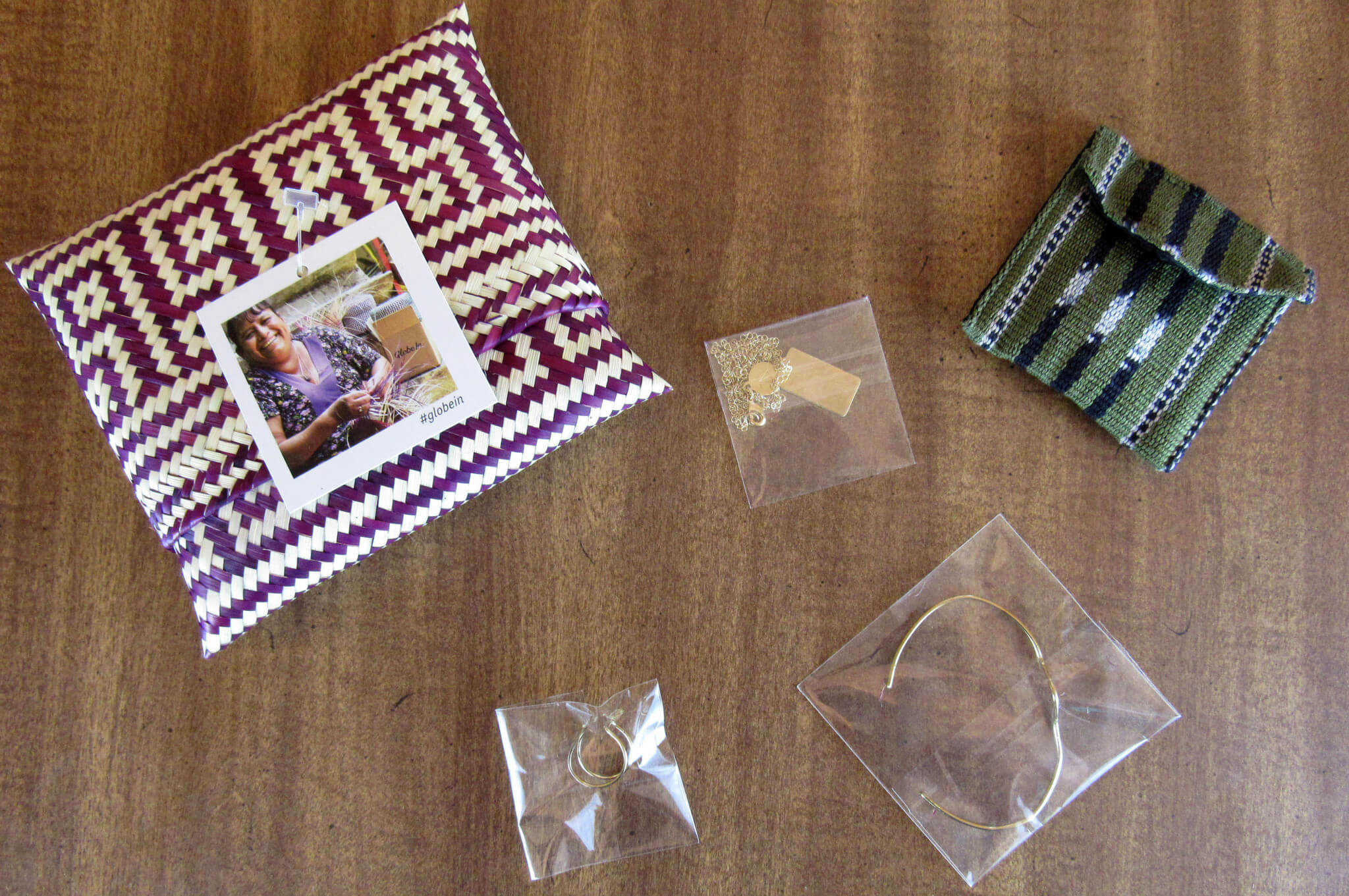 Items packaged
