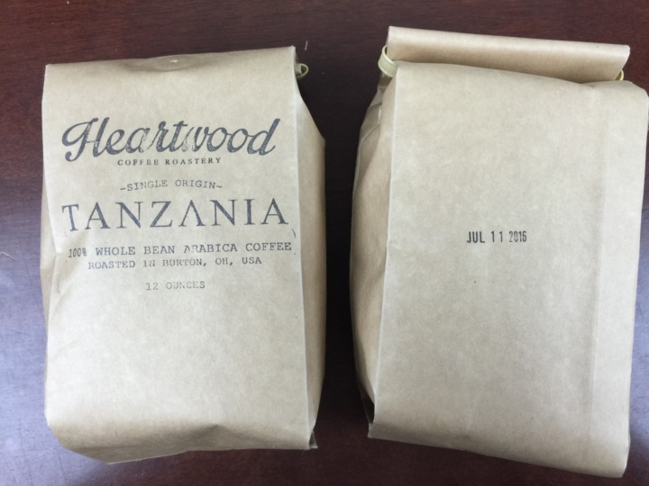 Heartwood Coffee Club July 2016 review