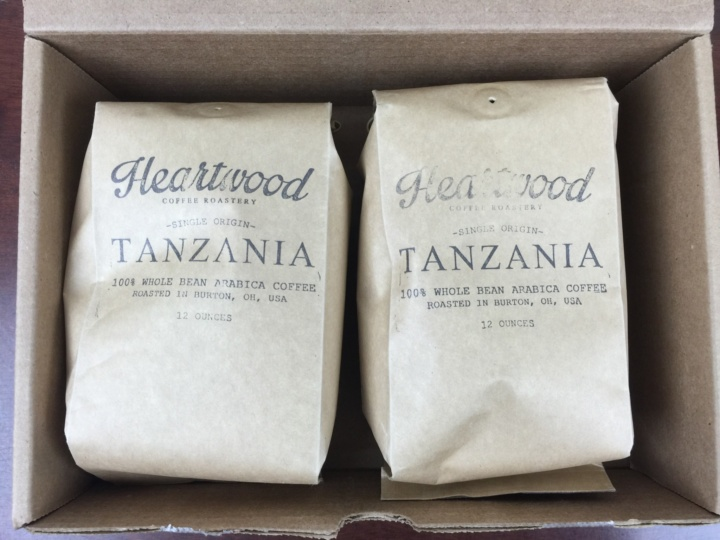 Heartwood Coffee Club July 2016 unboxed